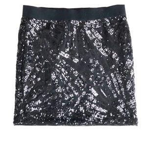 Mini sequinned skirt